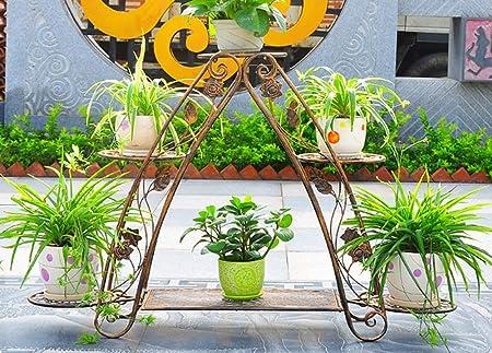 AILIWEI Soporte de exhibición de bonsái de Hierro Soporte para Plantas Estante para macetas para Interiores y Exteriores Terraza de jardín Soporte de Flores para jardín (Color : Brass): Amazon.es: Hogar