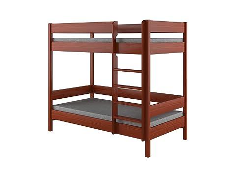 Struttura Per Letto A Castello.Dino Bunk Bed Struttura Per Letto A Castello Per Bambini In Legno Con Ingresso Frontale Legno Palisander 160x80x160