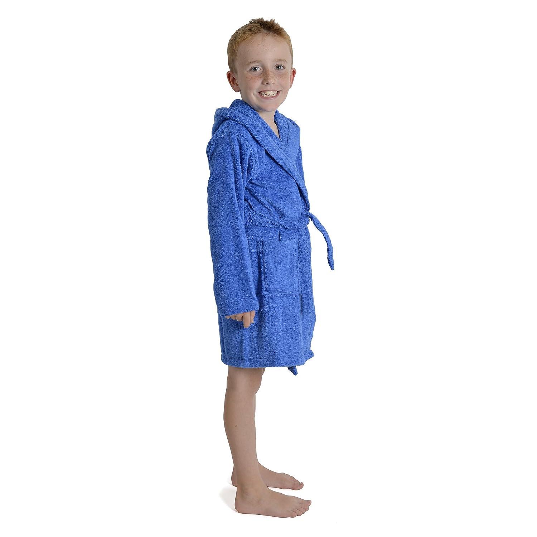 bebcdf9e47597 CityComfort Peignoir pour Enfants Petit Garçon Fille avec Capuche 100%  Coton Robe de Chambre Serviette Doux Éponge de Coton 7-13 Ans: Amazon.fr:  Vêtements ...