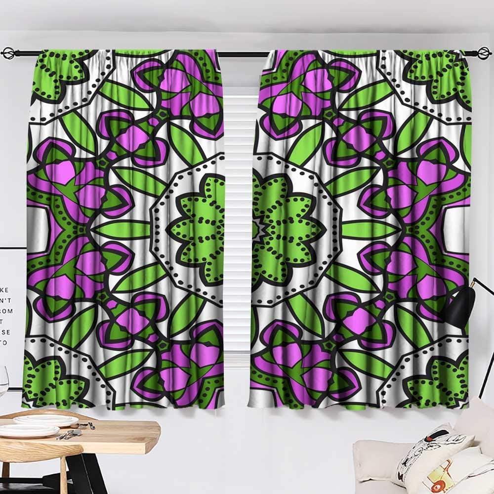 Amazon Com Hariiuet Customized Curtains Seamless Art Deco Floral