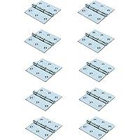 GeZu-Impex ® 10x Hoekscharnier, Deurscharnier, scharnier voor deuren, kasten, klaptafels, 75 x 75 mm, Electrolytisch…