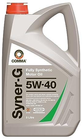 Comma SYN5L Syner-Z - Aceite sintético de Motores de Alto Rendimiento de turismos (5W-40, 5 l): Amazon.es: Coche y moto