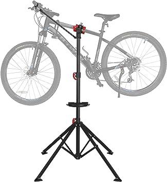Yaheetech Caballete para Bicicleta Soporte de Reparación Plegable con Bandeja Magnética Altura Ajustable para Bicicleta Montaña Carretera para Taller: Amazon.es: Deportes y aire libre