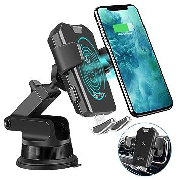 Te-Rich Cargador Inalámbrico Coche Carga Rápida, Cargador Qi coche para Teléfono,Soporte Automóvil 10W para Samsung S10/S10e/S10+/S9/S8/S8+/Note ...