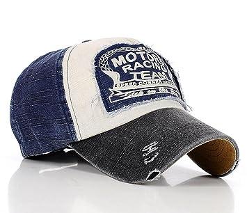 Gorra de béisbol de algodón, con tira ajustable, diseño casual desgastado: Amazon.es: Deportes y aire libre