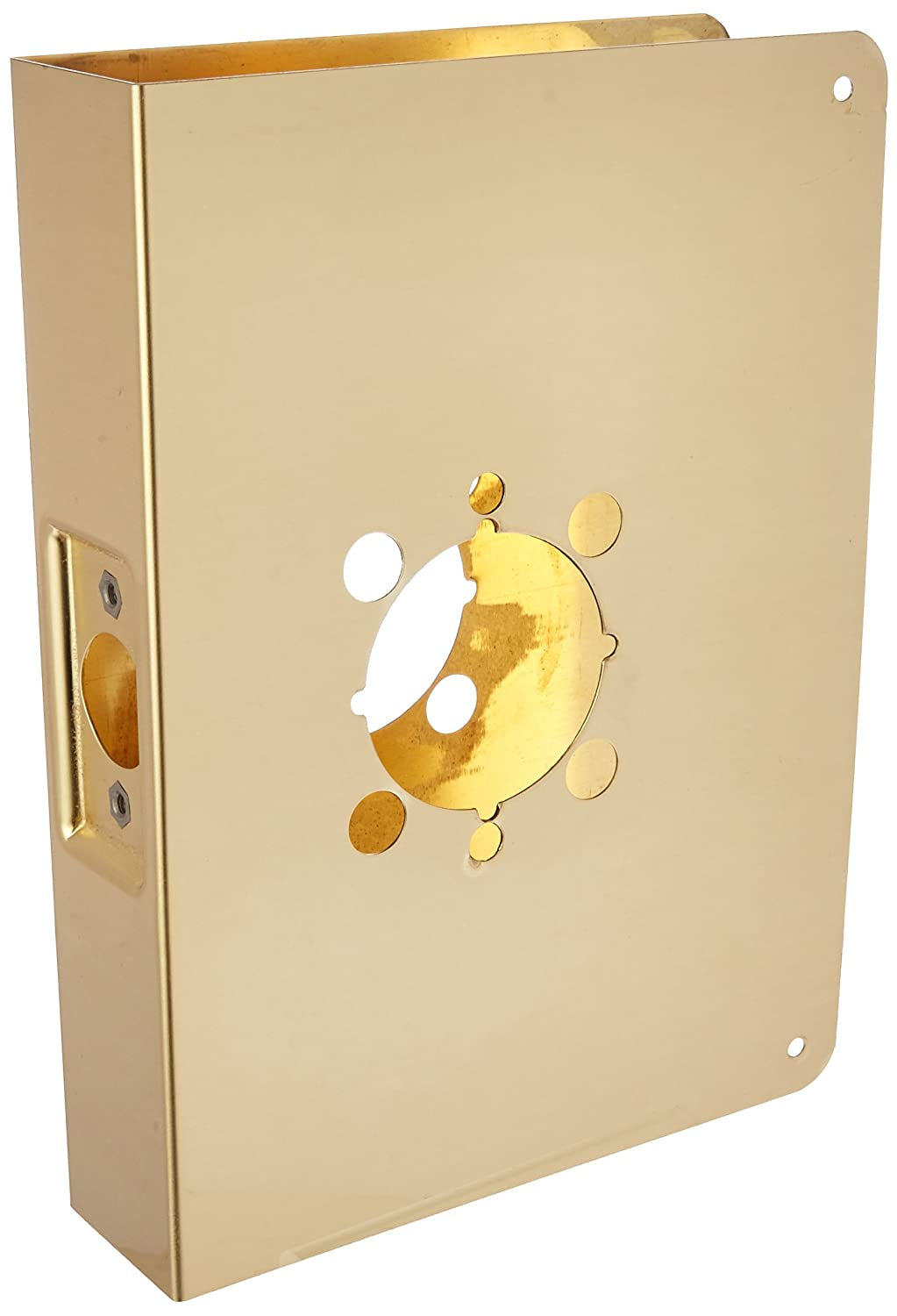 Don-Jo 55A-2-CW 22 Gauge Stainless Steel Mortise Lock Wrap-Around Plate Polished Brass Finish 6-1//2 Width x 9 Height