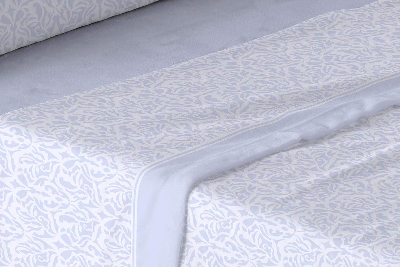 Tacto Suave BURRITO BLANCO Juego de S/ábanas de Coralina 958 Beige para Cama de 90 x 190 hasta 90 x 200 cm Muy C/álido y Ligero con Dise/ño Estampado Ornamental en Beige.