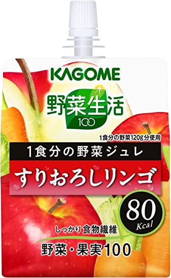 Grated Kagome vegetables life 100 1 serving of vegetables jelly 30 apple  180g ~