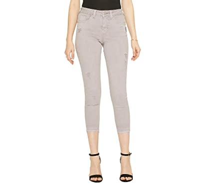 9269688d Silver Jeans Co. Women's Avery Curvy-Fit High Rise Skinny Crop Jeans,  Lavender