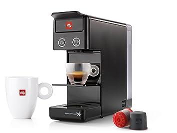Máquina de café de cápsulas illy Modelo Y3.2 Iperespresso) Color Negro, Máquina