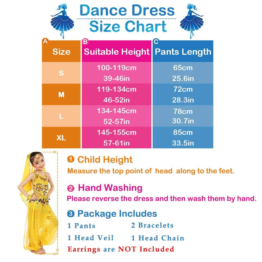 Vestito da Carnevale Splendente Vestito da Partito di Costume di Danza del Ventre delle Ragazze Vestiti Principessa Arabi dei Vestiti Cosplay Dancewear