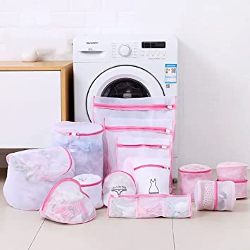 Juego de 6 pieza de red, color rosa Cesto para la ropa bolsa Lavado Bolsa