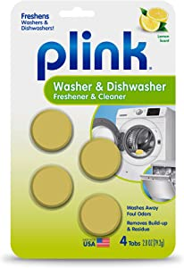 Summit Brands Washer and Dishwasher Freshener Cleaner, 4 Tabs, 4-Count, Yellow, 4 Piece
