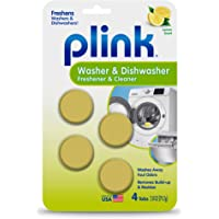 Plink Washer and Dishwasher Freshener and Cleaner, Phosphate and Bleach Free, Deodorizer and Cleaner, 4 Tablets