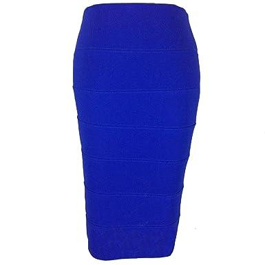 SD Plain de faldas o traje de neopreno para mujer de lápices 7 ...