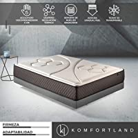 Komfortland Colchón de muelles ensacados Memory Vex Spring con 5 cm de ViscoProgression Grafeno, Altura 27 cm (Todas Las Medidas)