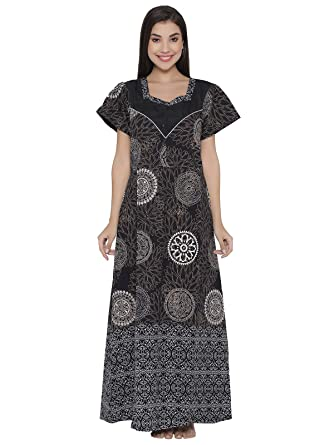 0abfe09213 Clovia Cotton Rich Printed Nighty: Amazon.in: Clothing & Accessories