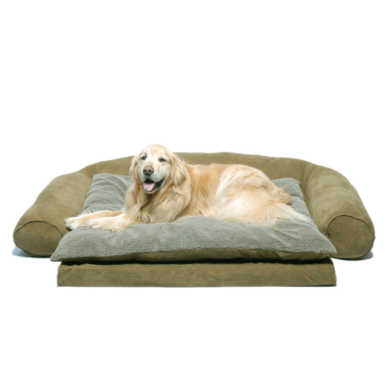 CPC Ortho Sleeper Large Comfort Couch with Removable Cushion, Sage