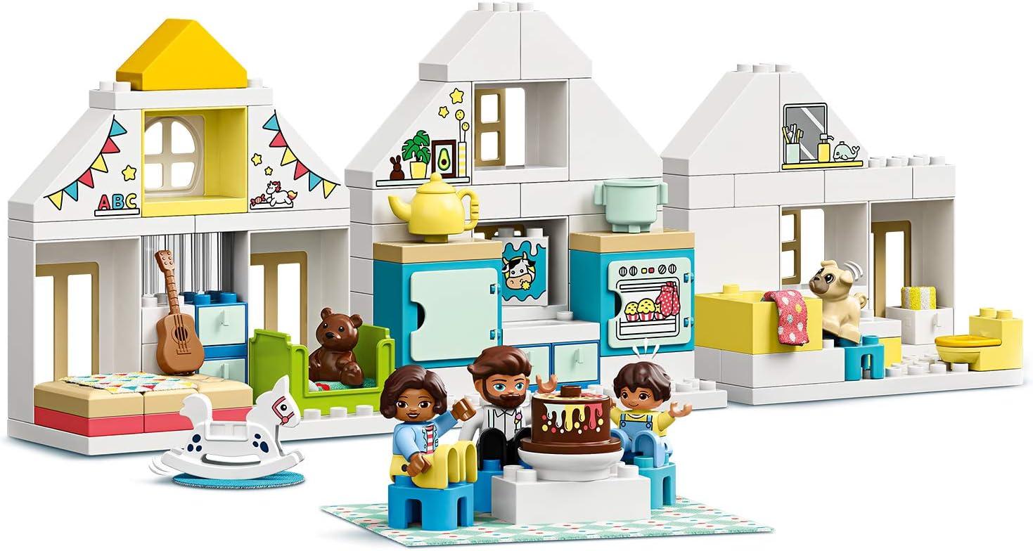 LEGO DUPLO Town - Casa de Juegos Modular, Set 3 en 1 Recomendado a Partir de 2 Años, Incluye Figuras de Animales y Personas de Juguete, Cuenta con 3 Plantas (10929): Amazon.es: Juguetes y juegos