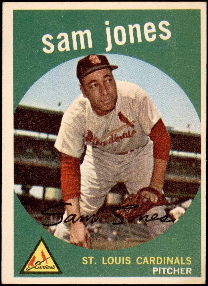 Louis Cardinals Baseball Card 1959 Topps # 75 Sam Jones St EX Cardinals Deans Cards 5