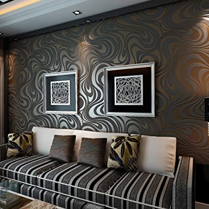Qihang Modern Luxury Abstract Curve 3d Wallpaper Roll Mural Papel De