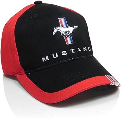 Ford Mustang diseño de Rayas Rojo Negro Gorra de béisbol: Amazon ...
