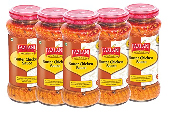 Ready to Eat Butter Chicken Sauce by Fazlani Foods, 285 GMS