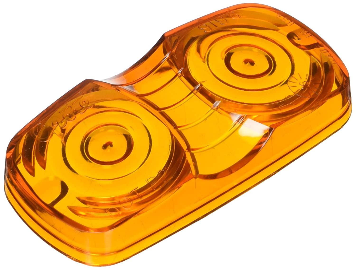 Grote 91963 Yellow Clearance Marker Replacement Lenses (Two-Bulb Square Lens)