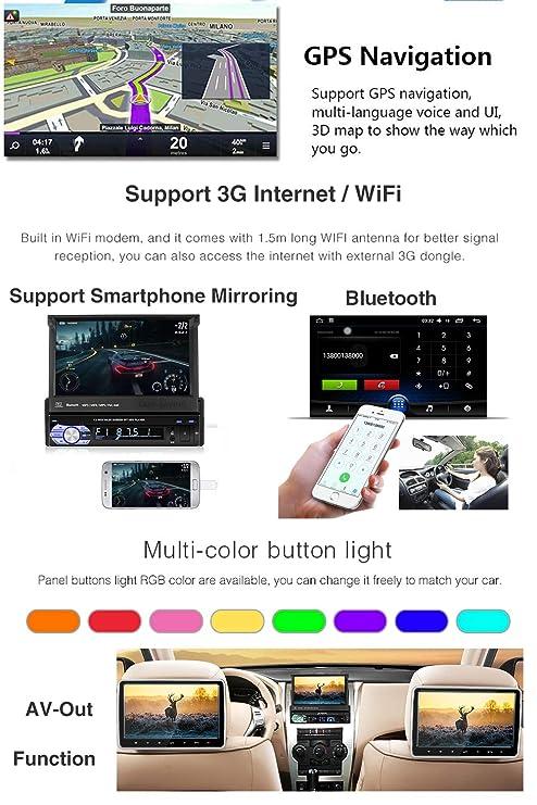 Amazon.com: Android 8.0 Car GPS Navigation Single 1Din in-Dash Car ...