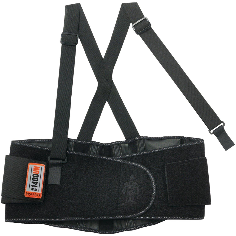 Proflex 1400UN Universal Size Back Support Belt, One Size, Black