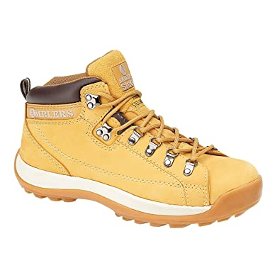 Amblers Steel Lace-Up Textile Lined Mens Boots - Honey - Size 13 H1UrK3