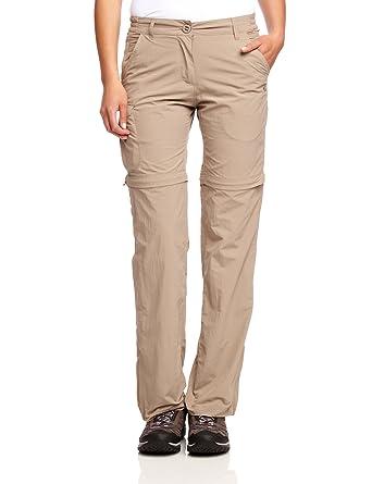 4dba3616857b Craghoppers Women's Nlife Convert TRS Long Length Trousers - Mushroom, ...