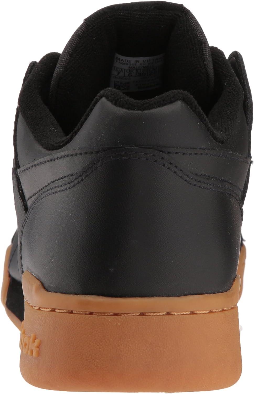 Reebok Workout Plus, Chaussure athlétique Tout Sport Homme Black Carbon Classic Red