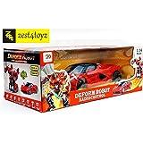 Zest 4 Toyz 1:14 Scale Remote Controlled One Button Car To Transformer to Car Converting Ferrari