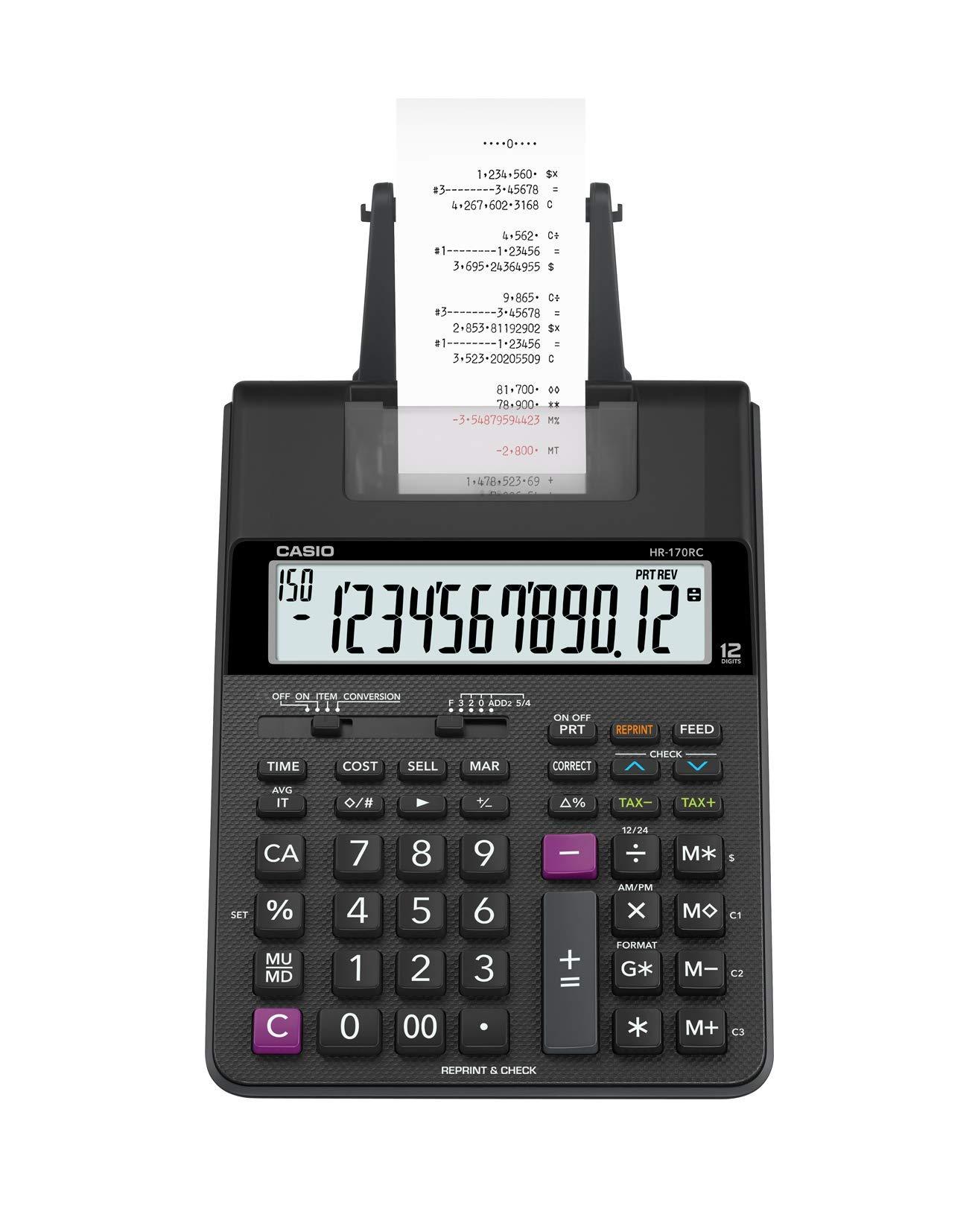 Casio HR-170RC Plus Mini-Desktop Printing Calculator by Casio