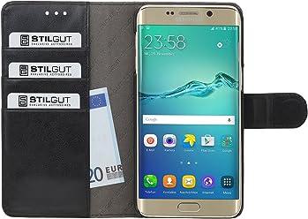 StilGut Talis, custodia a portafoglio per Samsung Galaxy S6 edge+, nero