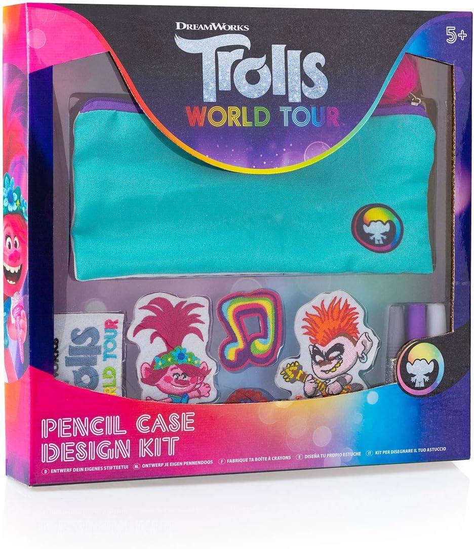 DreamWorks Trolls Kit de diseño de Estuche para lápices World Tour: Amazon.es: Juguetes y juegos