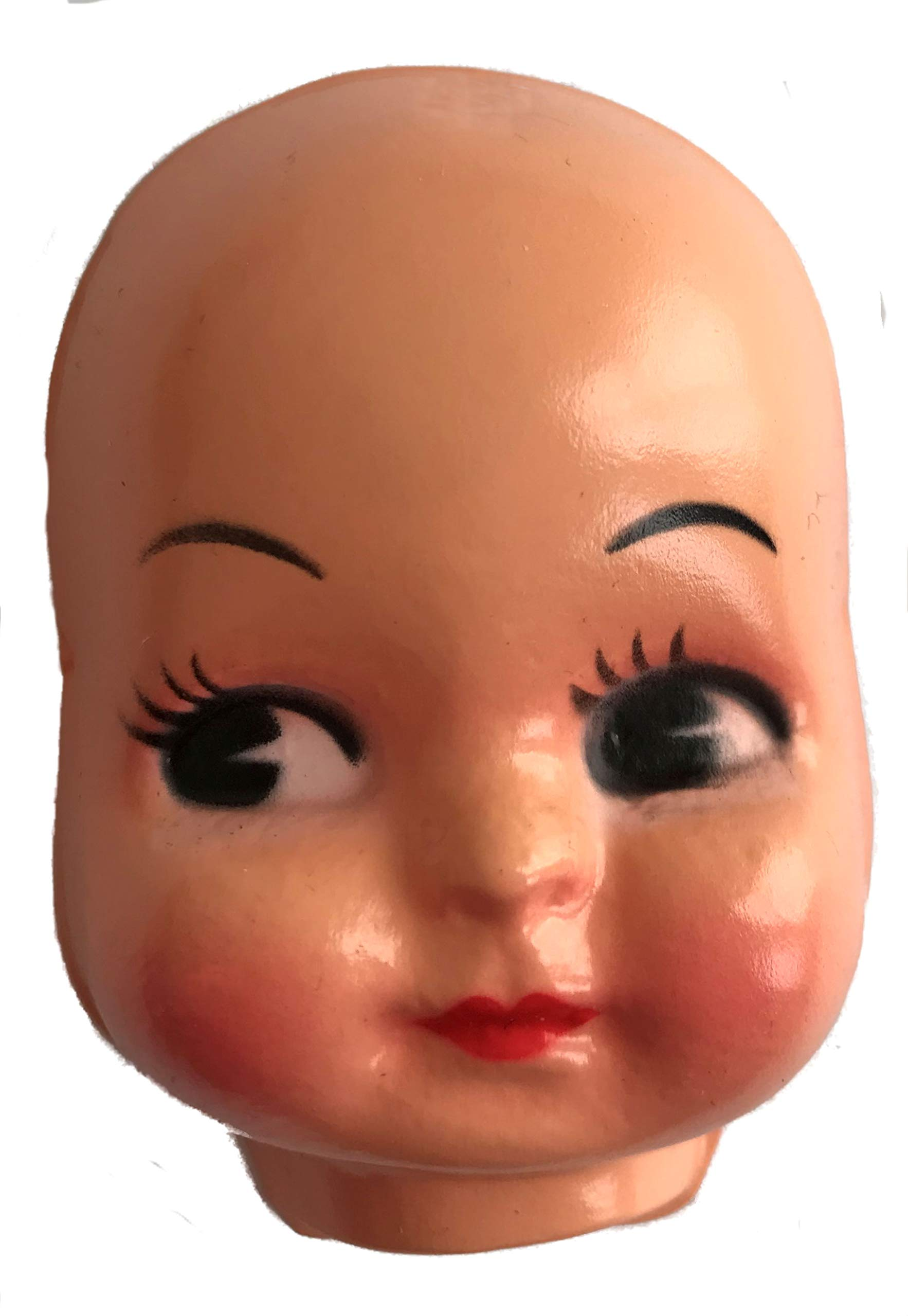 3'' Girl Celluloid Plastic Doll Face Mask (Pack of 6)