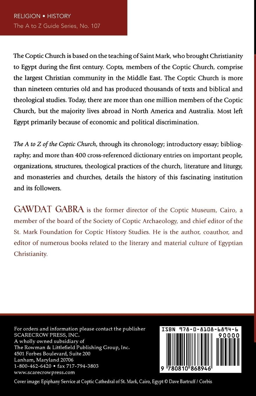 The A to Z of the Coptic Church (The a to Z Guide)