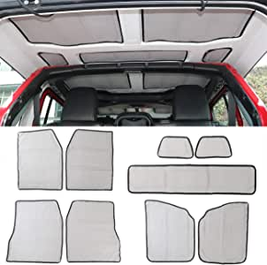 MFC 9 PCS Headliner Roof Heat Insulation and Sound Insulation Cotton Kits For Jeep Wrangler JL Interior Accessories (4-Door) 2018 2019 2020