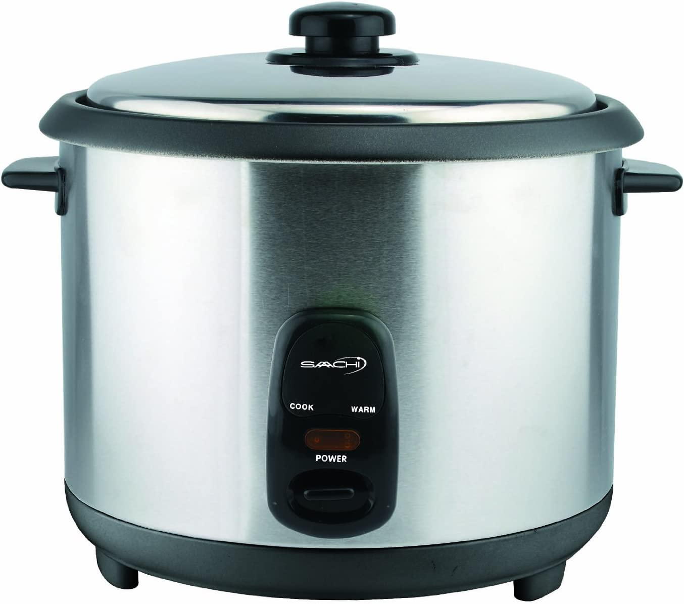 Saachi RC280 16 Cup Automatic Rice Cooker (Uncooked) with Keep Warm, Stainless Steel and Non-Stick Pot, Silver