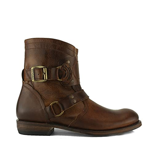 9cdc9ee226 Sendra 7567 Mens Leather Biker Boots Brown: Amazon.co.uk: Shoes & Bags