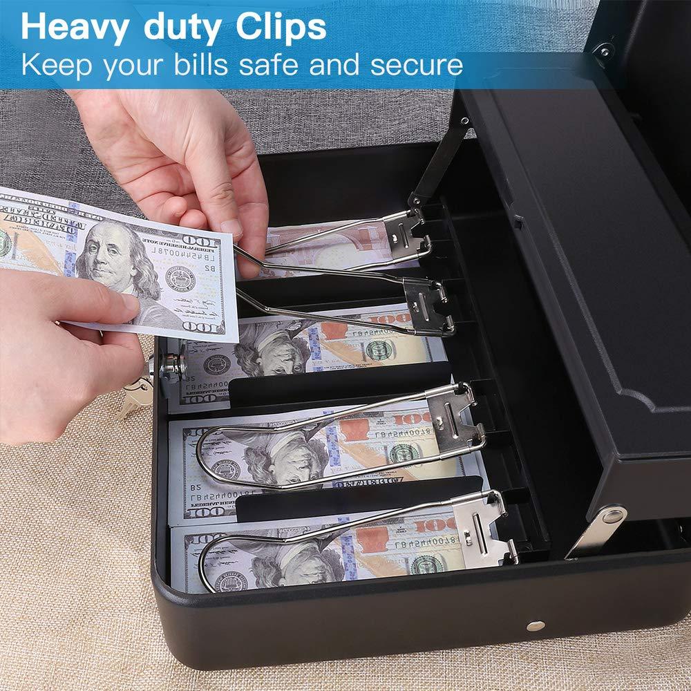 Cash Box Steel Money Box 11.8\
