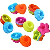 To encounter 24Pcs Silicone Molds Silicone Cupcake Baking Cups Silicone Donut Baking Pan Set Nonstick 2 3/4 inches…