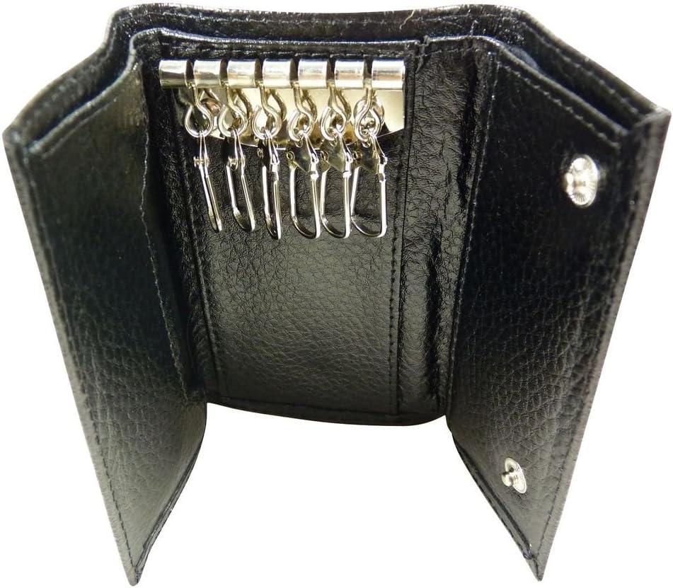 Etui Housse Pochette de Protection pour Ranger Les cl/és en Cuir Noir TU Porte-clefs