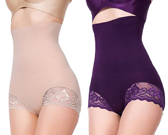 db9f98943008b Image Unavailable. Image not available for. Color  YaShaer 2 Pack Invisible  Strapless Body Shaper Shapewear High Waist Tummy Control Butt Lifter Panty  Slim