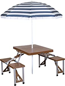 Stansport Picnic Table and Umbrella Comb