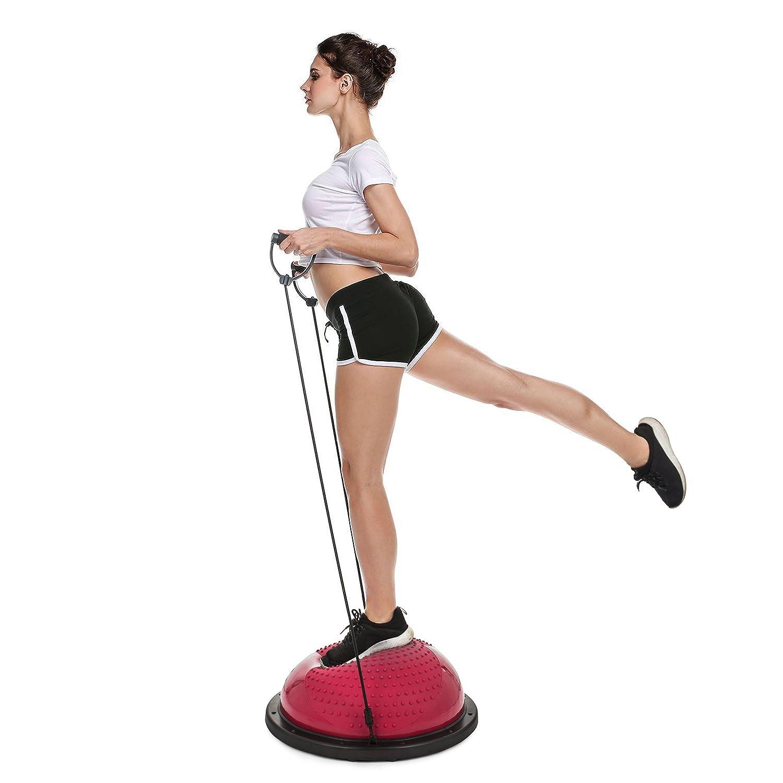 Popsport Yoga Fitness Ball 58,4 cm Übung Balance Ball Yoga Balance Trainer Ball mit Lifting Seil und Pumpe Workout Kit