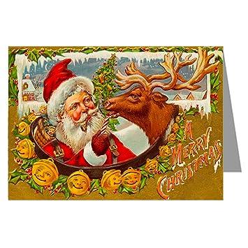 Amazon.com  Classic Vintage Christmas Card Showing Santa
