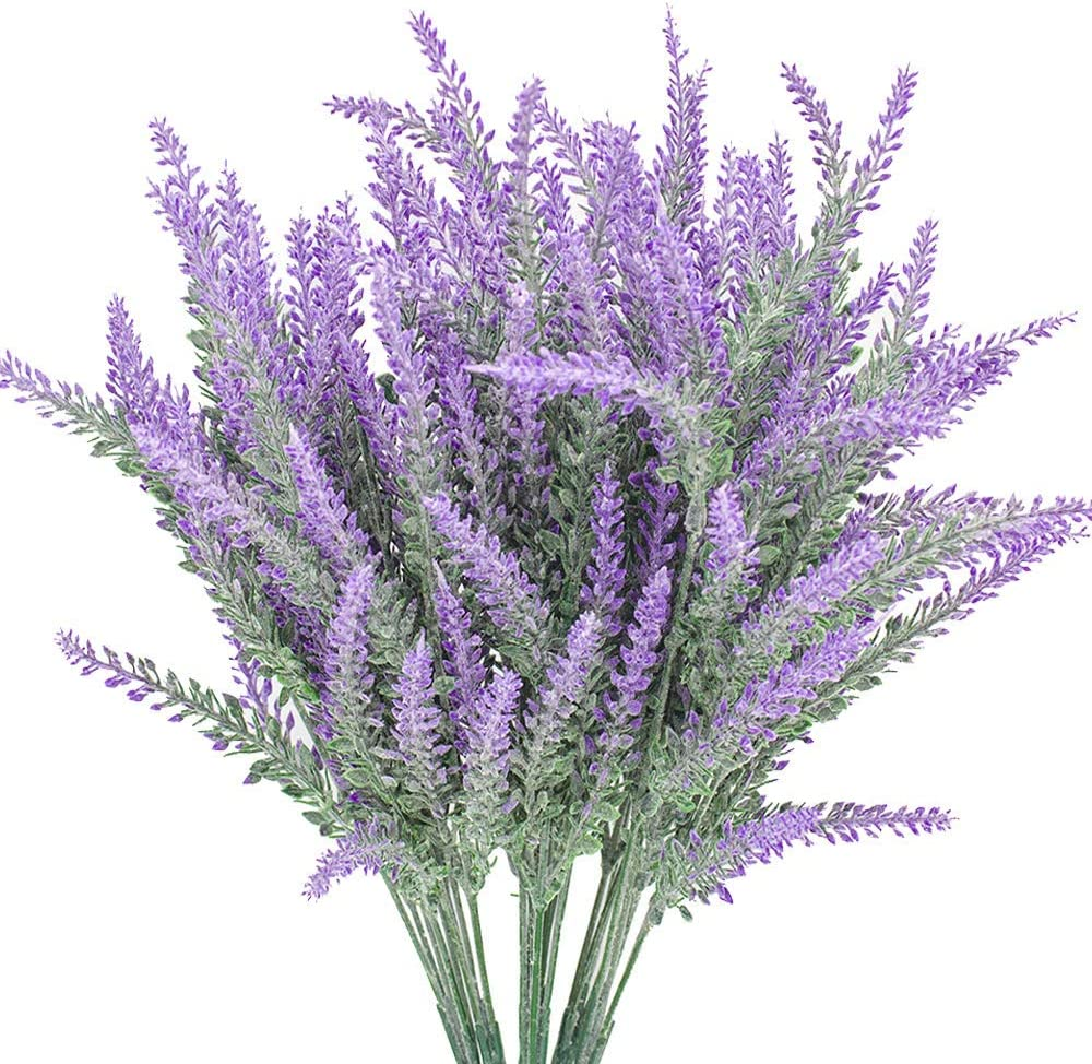Artificial Lavender Fake flowers Home School office Decor Kitchen Balcony Bedroom Living Room Wedding Courtyard Terrace 4pcs